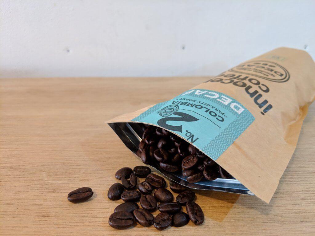 イノセントコーヒーのコロンビア豆デカフェ